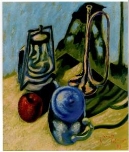Natura Morta con Tromba 1993 - Olio su tela 60x50