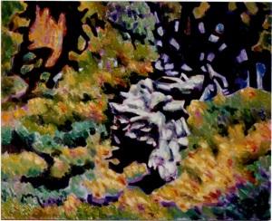 Vecchio Tronco - 1999 - Olio su Tela - 65x80